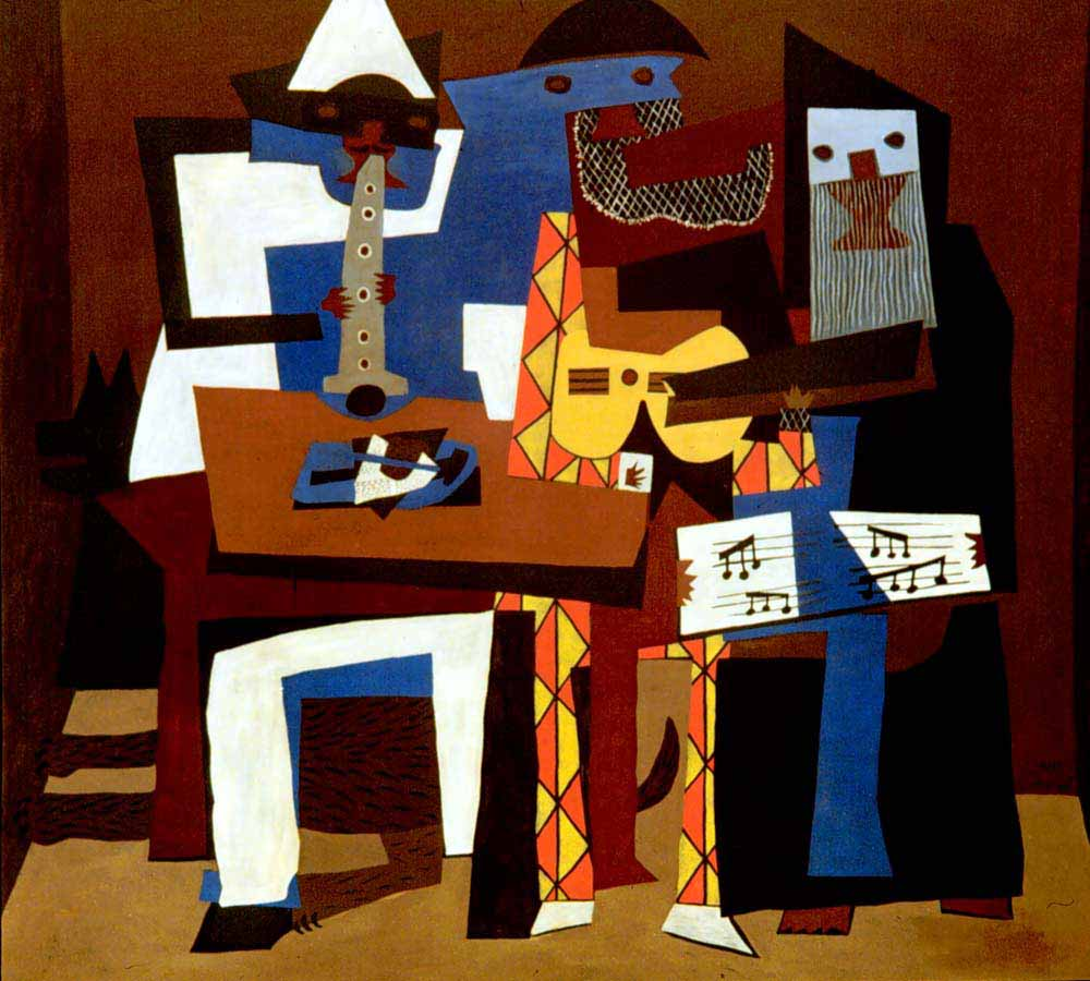 painting The Musicians by Pablo Picasso